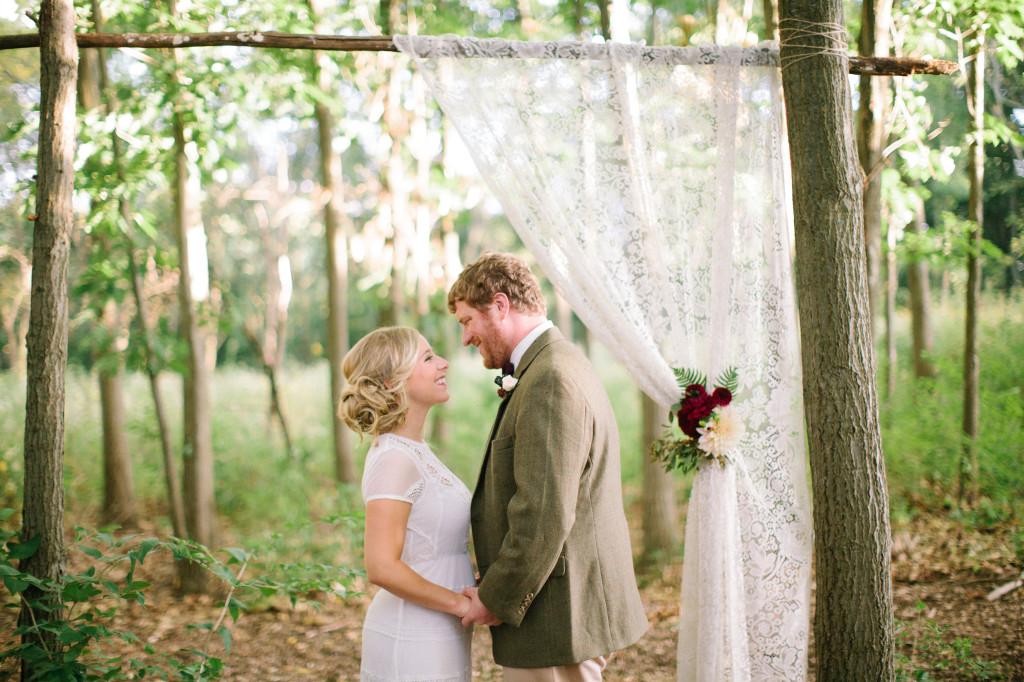 Lace wedding backdrop