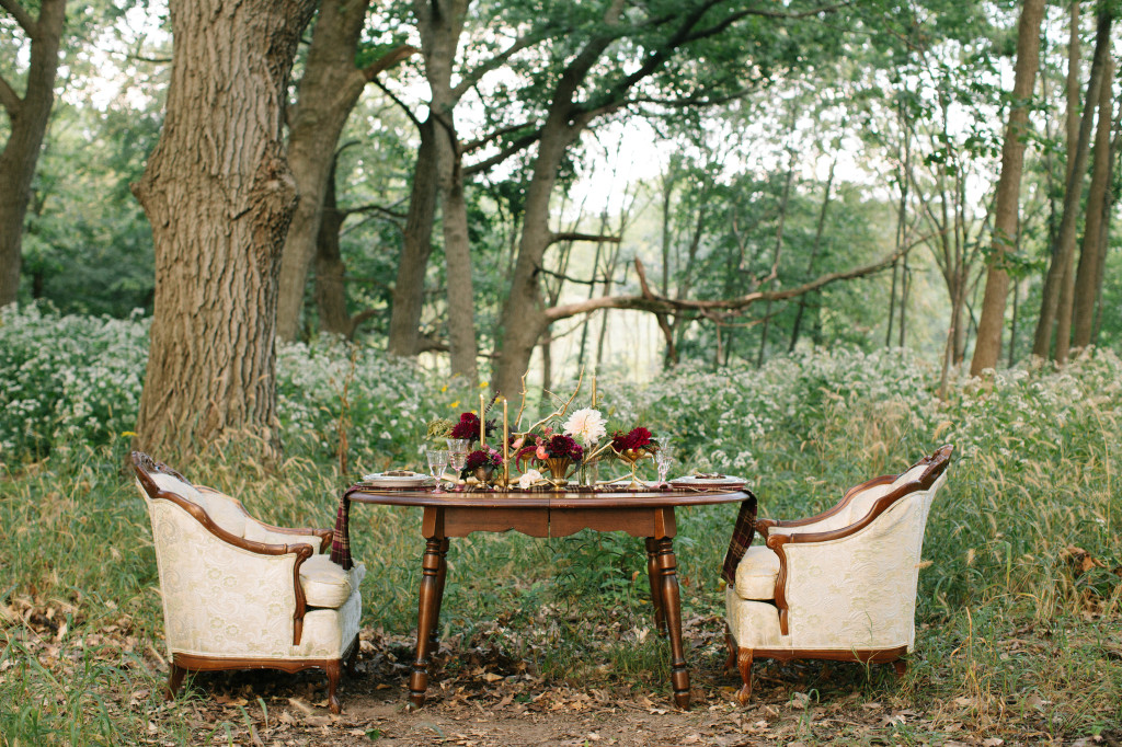 Vintage furniture wedding