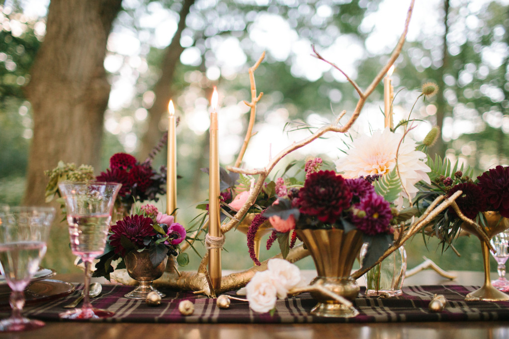 Wooden candle centerpiece