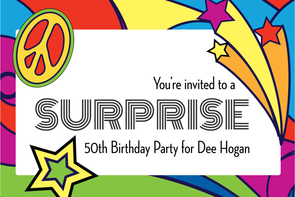 70's Birthday Party-Invite