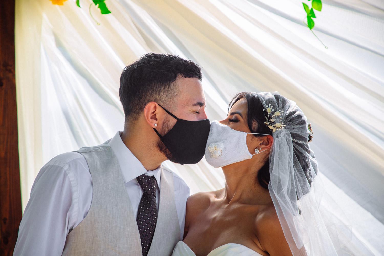 intimate weddings covid weddings wedding masks just married
