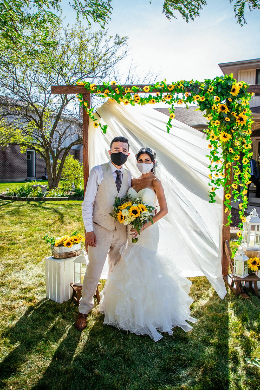 intimate summer weddings wedding masks