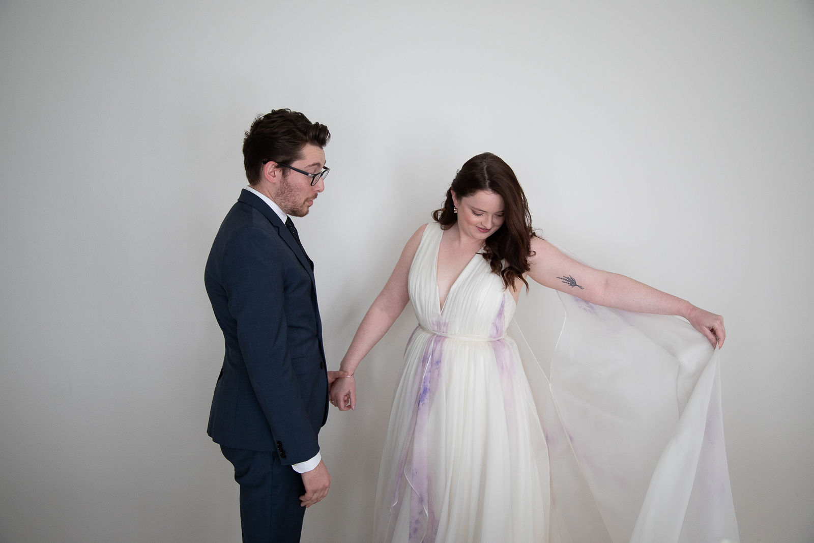 intimate wedding first look