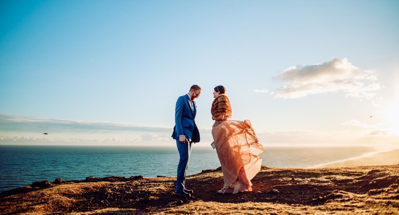 iceland elopement ceremony wedding photography