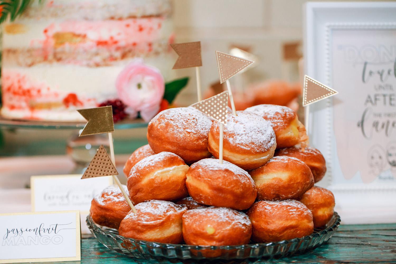 wedding dessert table display wedding donuts