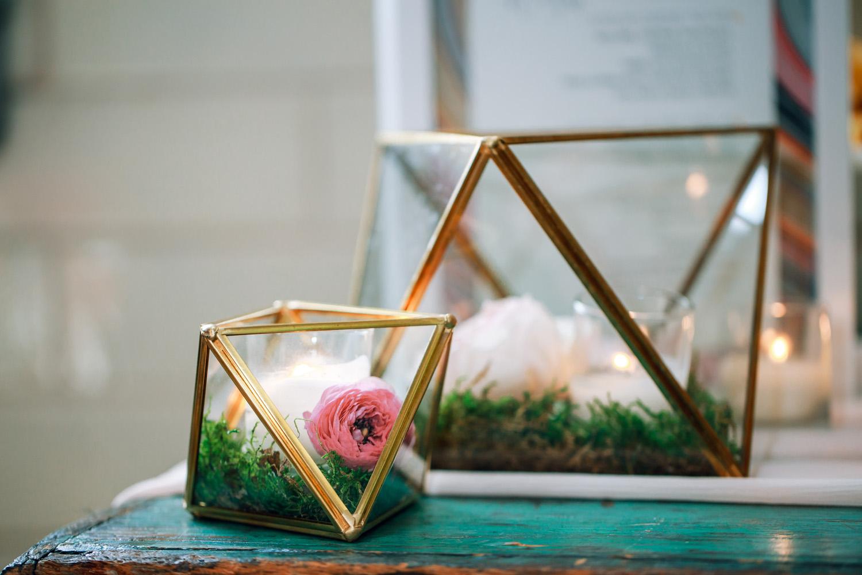geometric terrarium wedding decor wedding flowers