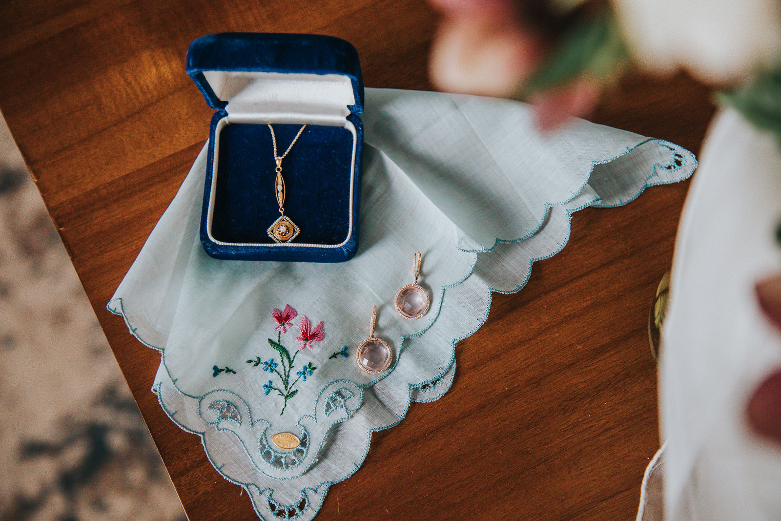 intimate wedding getting ready bridal accessories