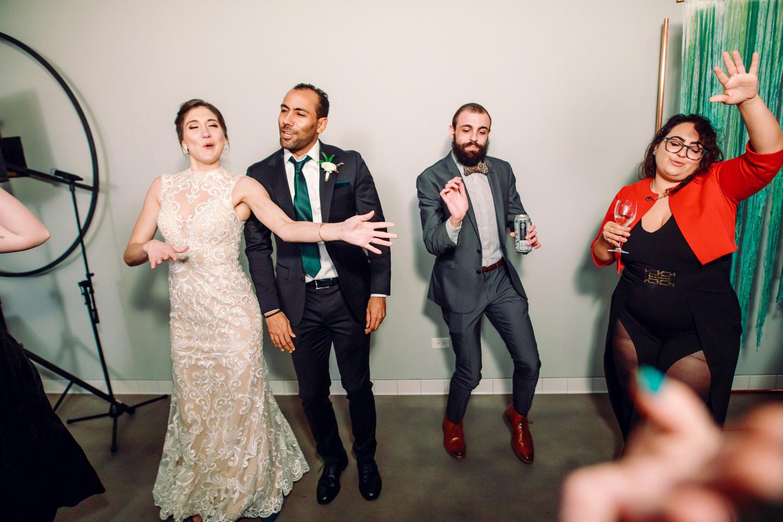 intimate weddings surprise wedding reception dance floor