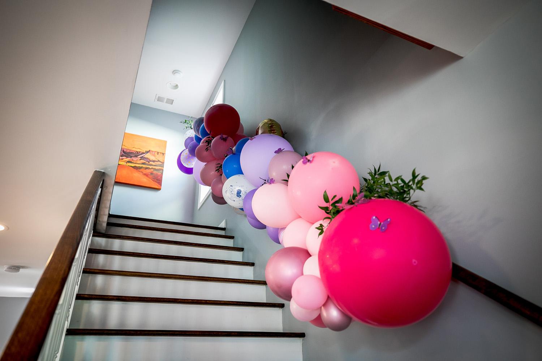 birthday balloon installation